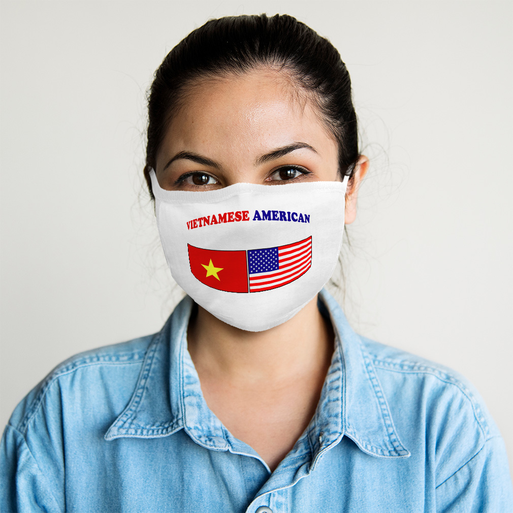 HARXISE South Vietnam Flag South Vietnamese Flags Dust Washable Reusable Filter and Reusable Mouth Warm Windproof Cotton Face